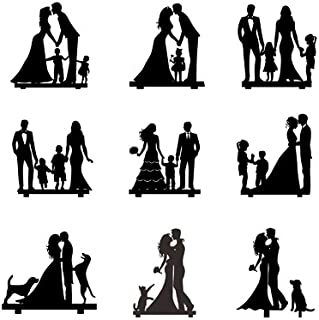 Wedding Anniversary Family Cake Topper Toppers Kids Cat Dog (Color Style Customized)