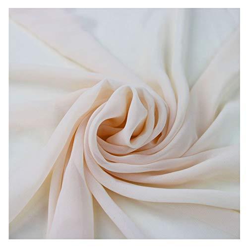 58' Solid Color Chiffon Fabric Rustic Sheer Bridal Wedding Party Decorations Backdrop, Blush, 10 Yards