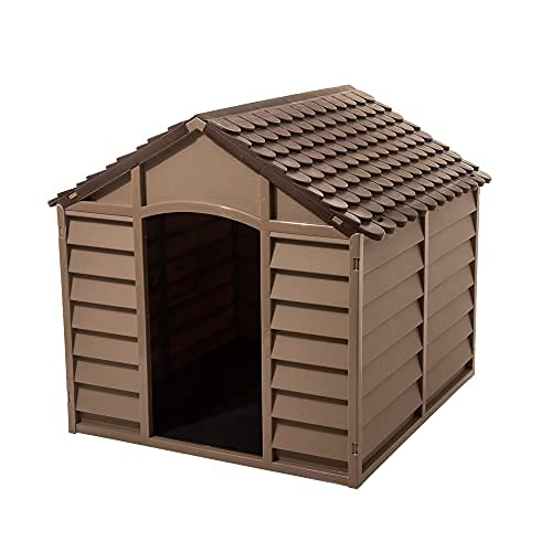 Starplast Mocha/Brown Large Dog House/Kennel