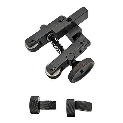 KKmoon Rändelwerkzeug, Mini Linear Rändel Werkzeug Drehmaschine Verstellbarer Schaft mit 2 Rädern