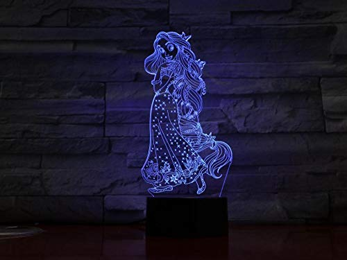 Night Light Led Optical Illusion Lights Lamp for Bedroom Beauty 7 Colors Changing Touch Switch with Timer Remote Control and USB Cable for Kids Christmas Gift