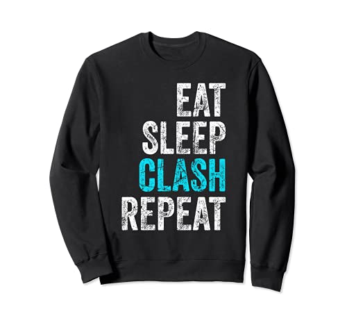 Gaming Clan Apparel Eat Sleep Clash Repeat Clans ビンテージ トレーナー