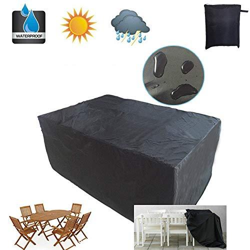 BASA Gartenmöbelbezug,Gartenmöbel ausOxford-Stoff, einfache wasserdichte und staubdichte Möbel (schwarz)