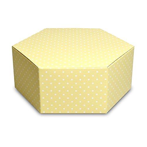 【メーカー直送品のため代引不可】エグザBOX【六角形のフルーツギフト箱】【イエロー】【L-2327】 100枚セット(フルーツ用 果物用 ギフトボックス ギフト箱 贈答用 箱)
