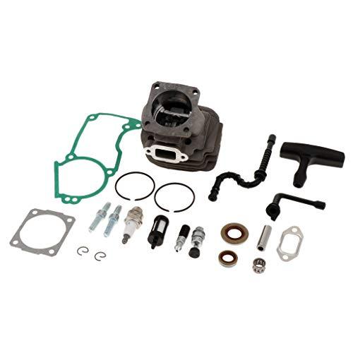 FLAMEER 44mm Zylinderkolben Kurbelwelle Kit Kettensäge Rasenmäher Membrane Ersatzteil für Stihl Kettensäge 026 026pro Ms260