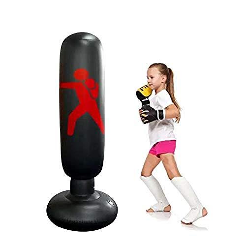 Wdsjxd Saco de boxeo inflable de pie Tower Boxing Target para entrenamiento de fitness