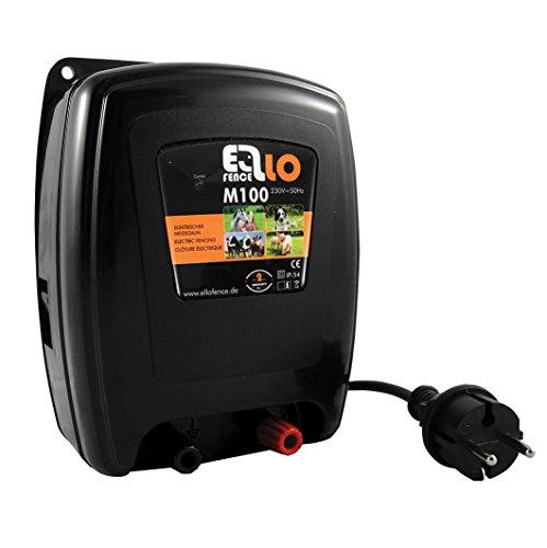 Ellofence M100 Clôture électrique extrêmement silencieuse - Pour bovins, vaches, chevaux, chiens, cochons, 230 V