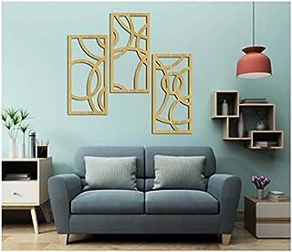 تابلوه خشبي مودرن من ستيبس، 3 قطع - 80w h110
