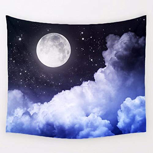 Djkaa fantasie cartoon maan cosmos verkennen polyester tapijt kinderen slaapkamer wandbehang beddengoed Home Decor 230 x 150 cm.
