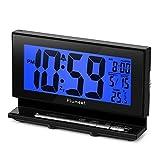 Plumeet Despertador Electrónico con Luz de Sensor, Reloj Despertador Digital LCD Grande c...