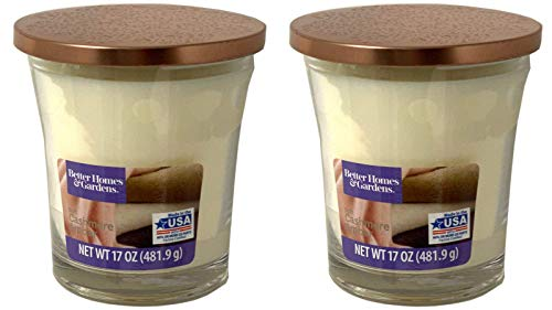 Better Homes Gardens 17oz Scented Candle, Soft Cashmere Amber 2-Pack