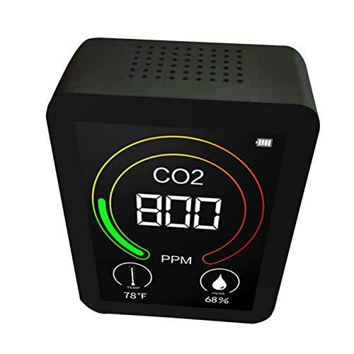 keleiesXD Monitor de calidad del aire para PM25 Informe de datos del detector de calidad del aire de temperatura y humedad utilizado para entornos de interior cocina automóvil con pantalla LCD lovable
