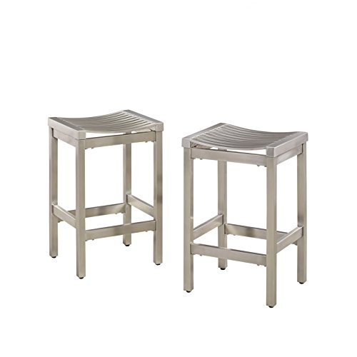 Pittsburgh Stainless Steel Stool, Set of 2 by Home Styles