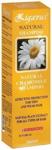 Zigavus Shampooing À L'extrait De Camomille Naturel 450ml pour sensible et gras Cheveux! Soin de cheveux! Renforce et répare les cheveux! PH neutre