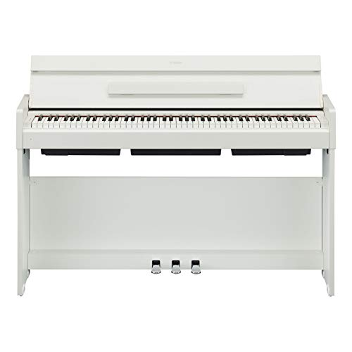 Yamaha Arius Digital Piano YDP-S34WH, weiß – Modernes E-Klavier mit Hammermechanik, Konzertflügel-Klang & USB-to-Host-Anschluss – Kompatibel mit kostenloser App
