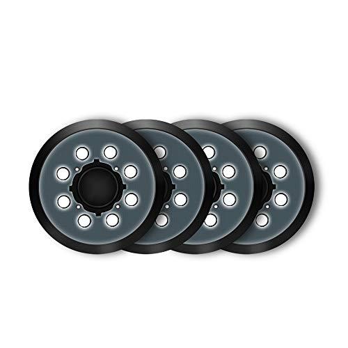 FUNTECK 5 in 8 Holes Replacement sander pad for DeWalt DWE64233 & N329079 Compatible with DWE6423/6423K, DWE6421/6421K, DWE6421-B2, DWE6421-B3, DWE6421-BR, DCW210B (4PCS)