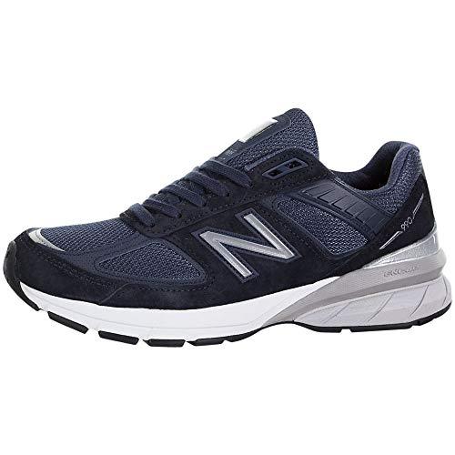 New Balance Men's Made 990 V5 Sneaker, Navy/Silver, 7 M...