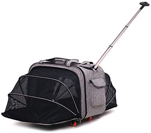 MKKSLR Rollstuhl-Reisetrolley/Verstellbarer Hundetrolley/tragbare Multifunktions-Box