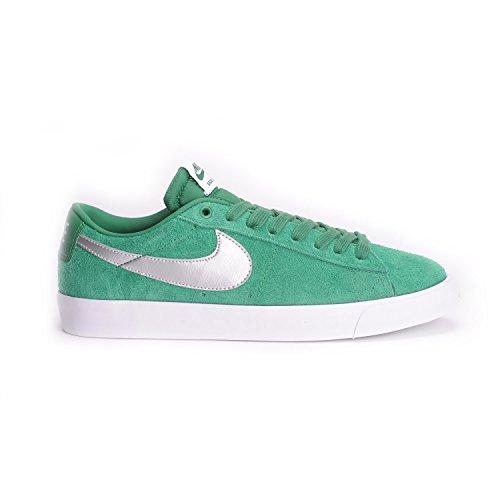 Nike Blazer Low GT, Zapatillas de Skateboarding para Hombre, Verde/Plateado/Gris/Blanco (Pn Grn/Mtllc Slvr-WLF Gry-Whit), 40 1/2 EU