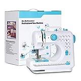 NEX Portable Sewing Machine Double Speeds for Beginner Art Craft 12 Stitches, Blue (Renewed)
