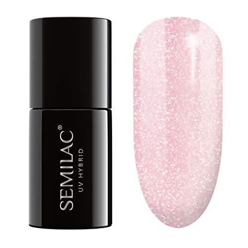 Semilac UV-Hybrid-Nagellack, Nummer 164, 7 ml, Pink Crystals