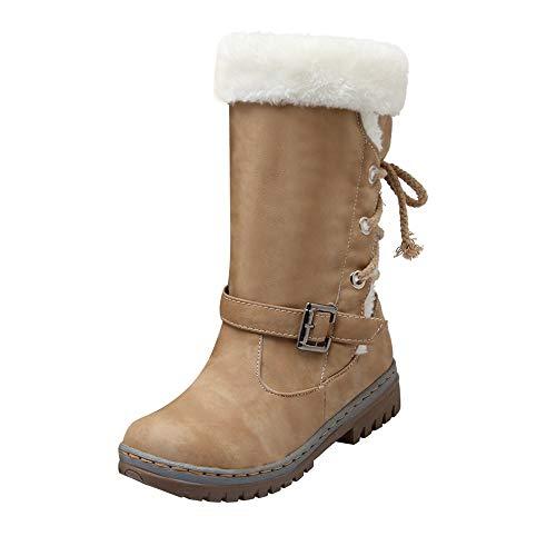 -20% Beikoard Klassiker Damen Schneeschuhe Flache Schuhe Winterschuhe warme Pelzstiefel Lässige Winterstiefel