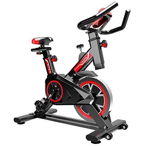GJXJY Bicicleta Estática Spinning, Fitness Spinning Bike Aerobic Home, Bici de Entrenamiento Fitness con Sillín Ajustable,pulsómetro y Pantalla LCD,para Gimnasio de Oficina en Casa