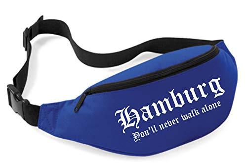 Uglyshirt89 Hamburg Bauchtasche | Ultras Fussball Sport Fan Tasche (Blau)