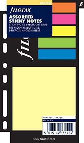 Filofax 130136 Haftnotizen, farbig sortiert