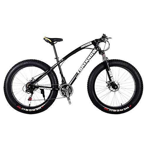 Snow Bicycles 26 pulgadas All Terrain Mountain Bike Fat Tire 27 velocidades doble freno de disco Sandy City Bike, color negro