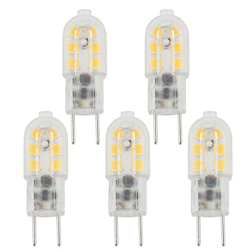 Preisvergleich Produktbild Bonlux 3W 12V G6.35 LED Glühbirne Kühlweiß 6000K Bi-Pin JC Typ Halogen-Ersatz T3 / T4 / T5 G6.35 / GY6.35 Sockel Birne für Unterschrank, Accent,  Puck-Beleuchtung Tischlampe (5-Stück)
