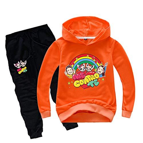 Tute Sportiva Felpa con Cappuccio e Pantaloni Felpe Bambino Bambina Unisex Tuta Casual Pullover Sweatshirt Maglia Ragazzi e Bambini Outfits 012