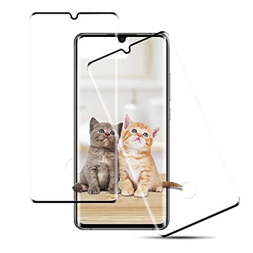 [2 Stück] Panzerglas für Xiaomi Mi Note 10/Note 10 Pro/Note 10 Lite, Fingerabdruck Schutzfolie, 9H Glas Folie, 3D Kratzfeste Bildschirmschutzfolie für Xiaomi Mi Note 10/Note 10 Pro/Note 10 Lite (Schwarz)