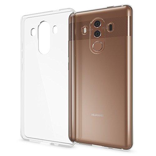 NALIA Handyhülle kompatibel mit Huawei Mate 10 Pro, Ultra-Slim TPU Silikon Hülle Cover Hülle Crystal Clear Schutzhülle Dünn Durchsichtig, Backcover Etui Handy-Tasche Transparent, Phone Schutz Bumper