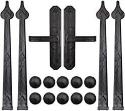 WINSOON Magnetic Decorative Garage Door Hardware 6 Pieces Carriage Accents Faux Hinges..