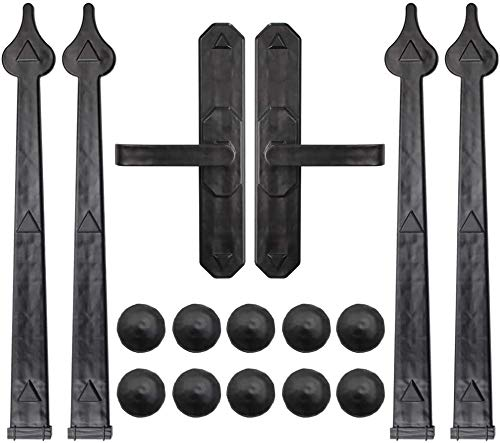 WINSOON Magnetic Decorative Garage Door Hardware 6 Pieces Carriage Accents Faux Hinges Curb Appeal Decor Kit with 10 Clavos