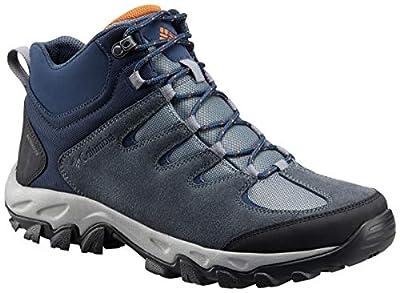 Columbia Men's Buxton Peak MID Waterproof Hiking Boot, Grey ash, Bright Copper, 11.5 Regular US