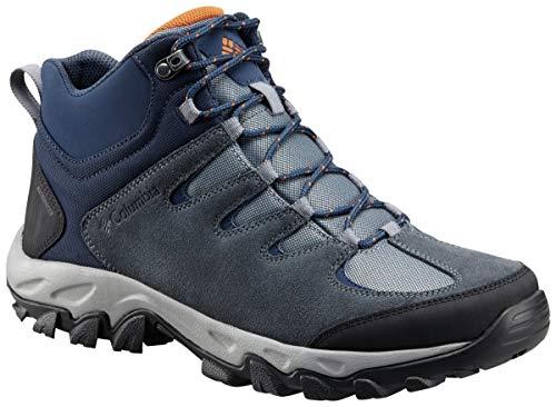 Columbia Men's Buxton Peak MID Waterproof Hiking Boot, Grey ash, Bright Copper, 14 Regular US