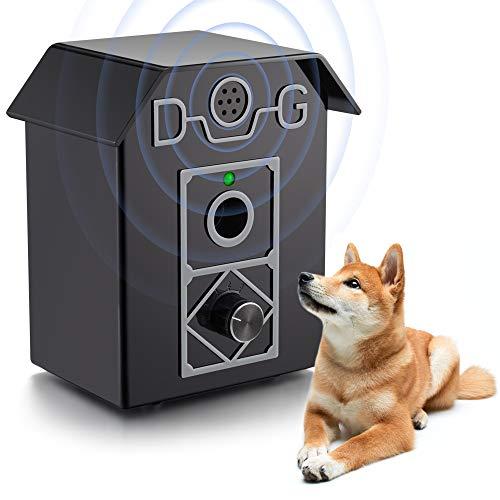 ulpeak Anti Barking Device Dog Barking Control Sonic Dogs Bark Stopper, Adjustable Stop Dog Barking, Bark Control Waterproof Sonic Bark Deterrent for Indoor & Outdoor Use