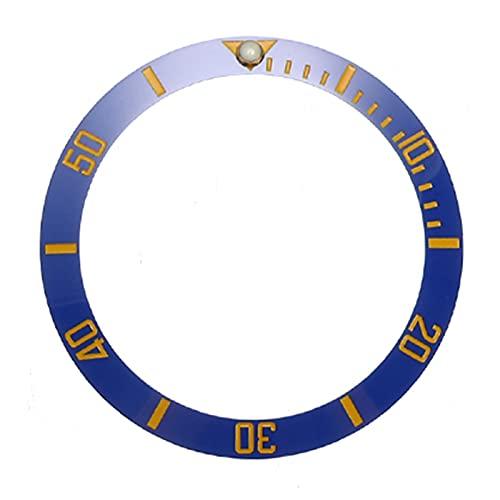 Reloj Bisel Anillo Reloj de 38 mm Reloj de cerámica de cerámica con cara Diámetro interior 30.7mm Relojes para hombre Reloj de bisel Reloj de reemplazo Accesorios Accesorios CeráMica Reloj Bisel Inser