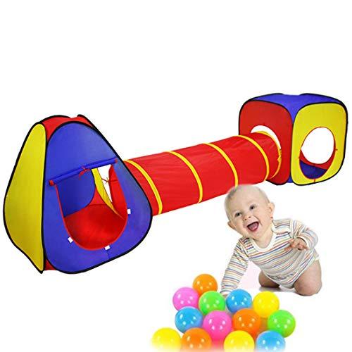 Kids Play Tent, Peuter Folding Tunnel Set, for Children Jongens Meisjes Baby's Binnen Buiten,A