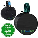 2 Boat Speaker Covers for 6.5' Round and 6X9 Inch Oval Marine ATV Wakeboard Tower Pod Speakers – Speaker Bags fit Boss Audio, MCM Custom Audio, Rockville Marine Speakers - Sold in Pairs