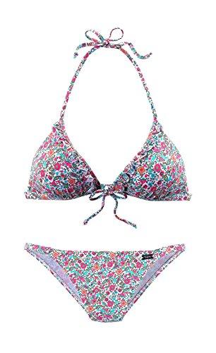Buffalo Triangel-Bikini, Buffalo weiß Im trendigem Millefleurs-Druck 34 A/B-Cup