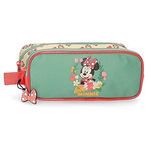 Disney Minnie Golden Days Estuche Doble Compartimento Multicolor 23x9x7 cms Poliéster