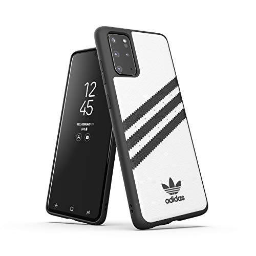 adidas Originals Designed für Samsung Galaxy S20+ Hülle DREI Streifen Schutzhülle - Weiß & Schwarz