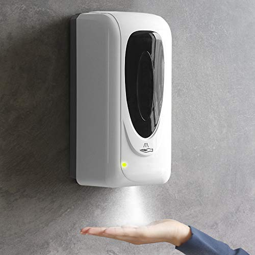NICEMEdispensador gel hidroalcoholico,dispensador de jabón automático pared del touchless ,Con sensor de infrarrojos,para el hogar, la Oficina, Hotel(1000ml para spray mode)