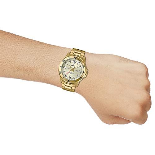 Montre sportive décontractée Casio MTP-VD01G-9EV pour homme, cadran et bracelet en acier...