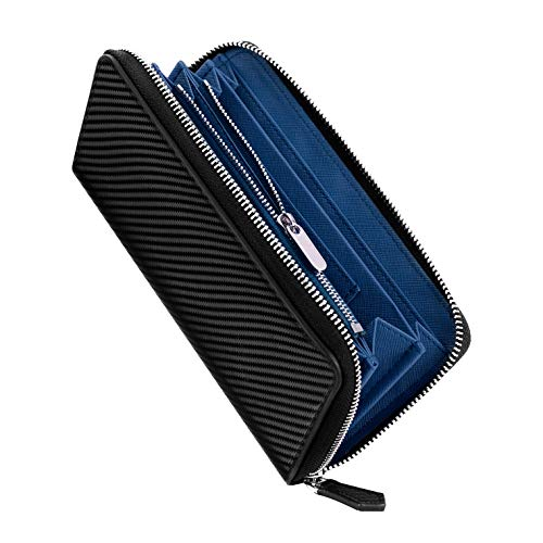 財布 メンズ 長財布 環境にやさしい カーボンレザー YKK製 大容量 ビジネス 紳士 サイフ カード15枚収納