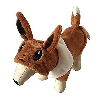 Topelec-Eevee Pet Dog Cat Costume Funny Dog Pet Clothes Suit Corsair Dressing up Christmas Halloween Party Apparel Clothing Winter Warm Coat for Dogs Cat-L