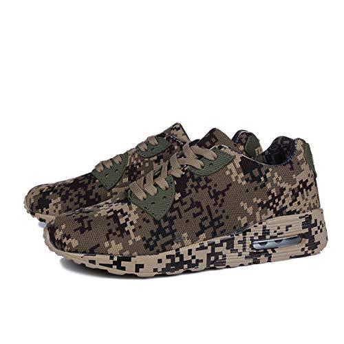 JFHGNJ Camouflage Kleuren Unisex Mode Sneakers Grote Maat 36-46 Mannen Canvas Casual Schoenen Comfort & Licht Schoen-Beige Brown_9.5